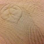Detalj av Hillevis quiltning.