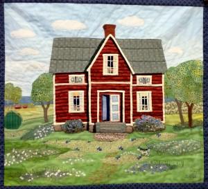 Hus gjort av Berit Nilsson (2000 med ändringar 2014).